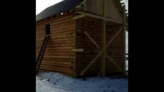 Чудо строители! Дом из сруба Омские производители! Двухэтажный за 9 дней построили под ключ.(, 2016-03-27T15:40:56.000Z)