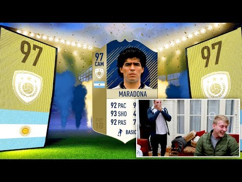ICON MARADONA IN A PACK PRANK
