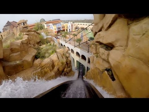 Chiapas POV Awesome Themed Log Flume Water Roller Coaster Phantasialand Germany