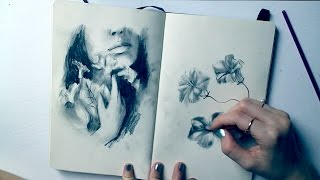Charcoal Sketches + q&a | Sketchbook Sunday #29