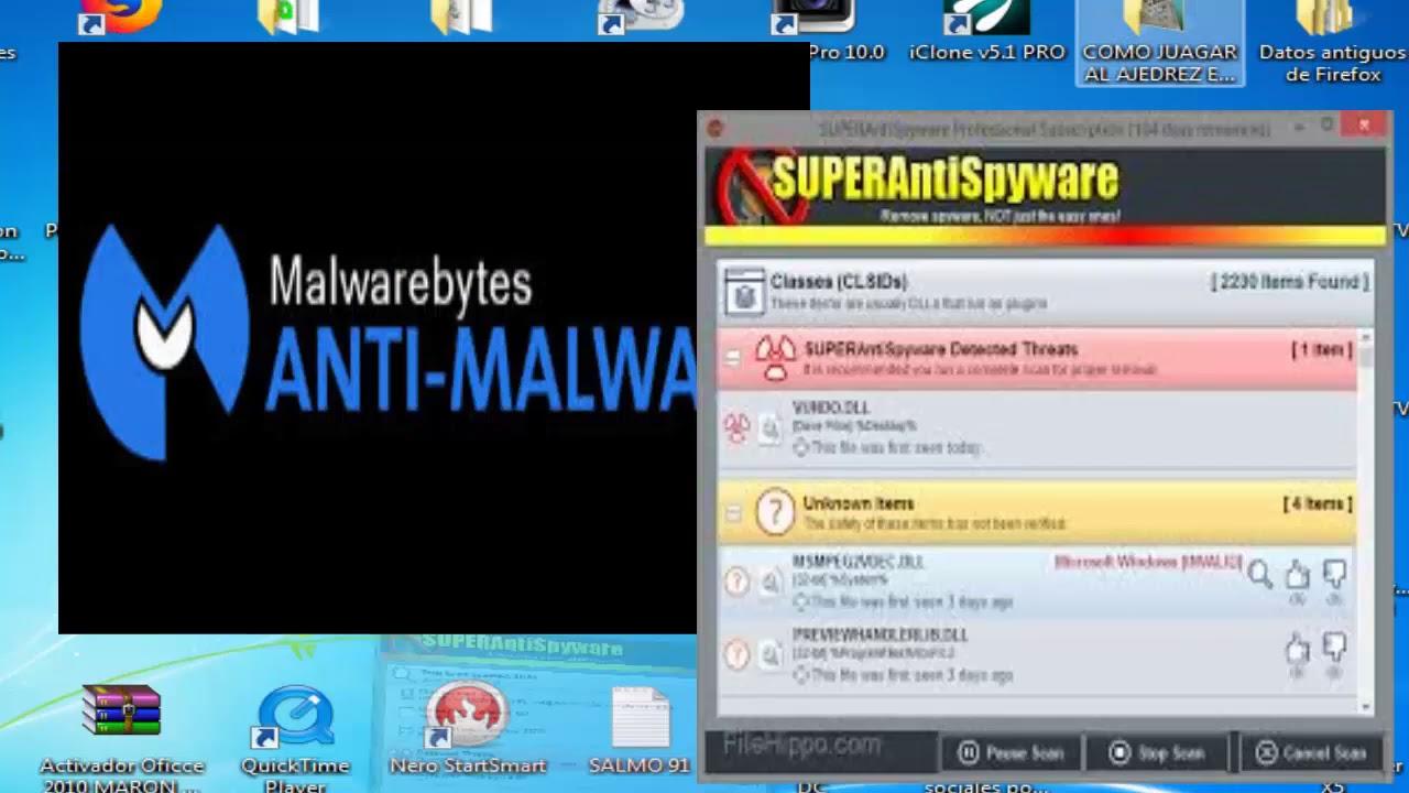 Superantispyware Malwarebytes