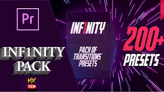 بريست إنتقالات رائعة 2020 للادوبي بريمير | Inf1nity Transition Pack 200 Presets Premiere | Free 100%