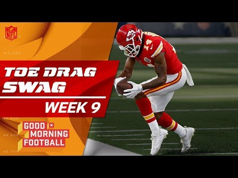 Top Toe-Drag Swag Catches from Week 9 😎 🏈  | Good Morning Football | NFL Highlights
