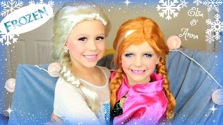 Disney's FROZEN Elsa And Anna Makeup Tutorial : Costume, Makeup, and Hair!