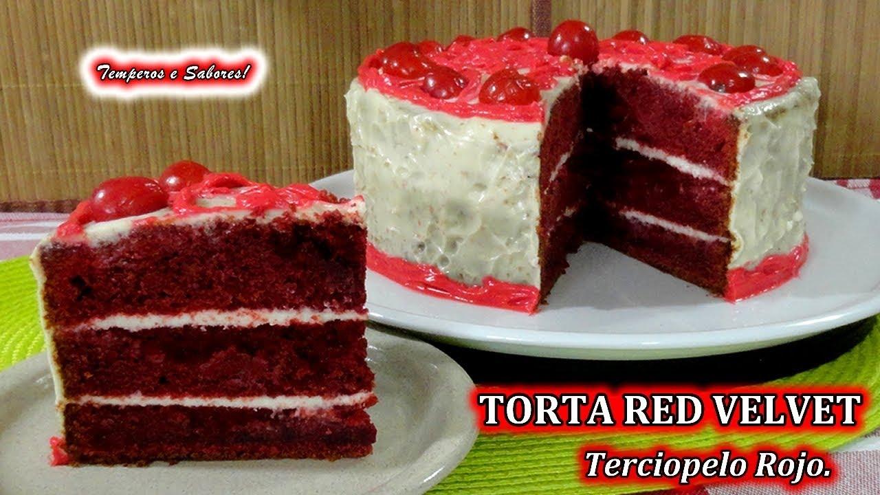 Torta red velvet terciopelo rojo increiblemente f cil y for Como decorar una torta facil y rapido