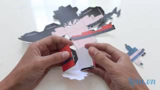 Hướng dẫn làm Papercraft hình Songoku