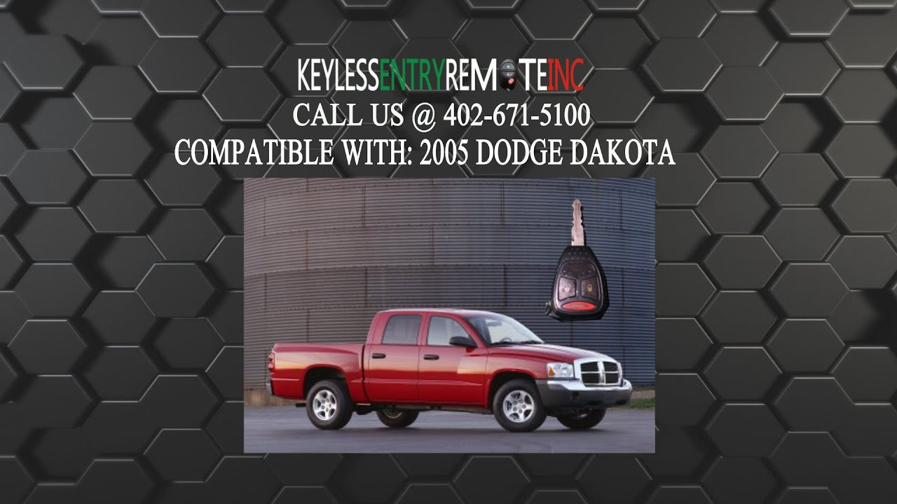 How To Replace Dodge Dakota Key Fob Battery 2005