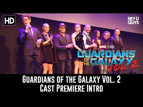 Guardians of the Galaxy Vol. 2 Cast Movie Intro - London Premiere