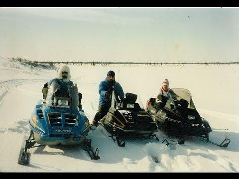 Snowmobiling on Chukchi Sea in Kotzebue, Alaska - 1990