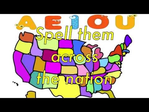 Vowel Song AEIOU with lyrics and rules