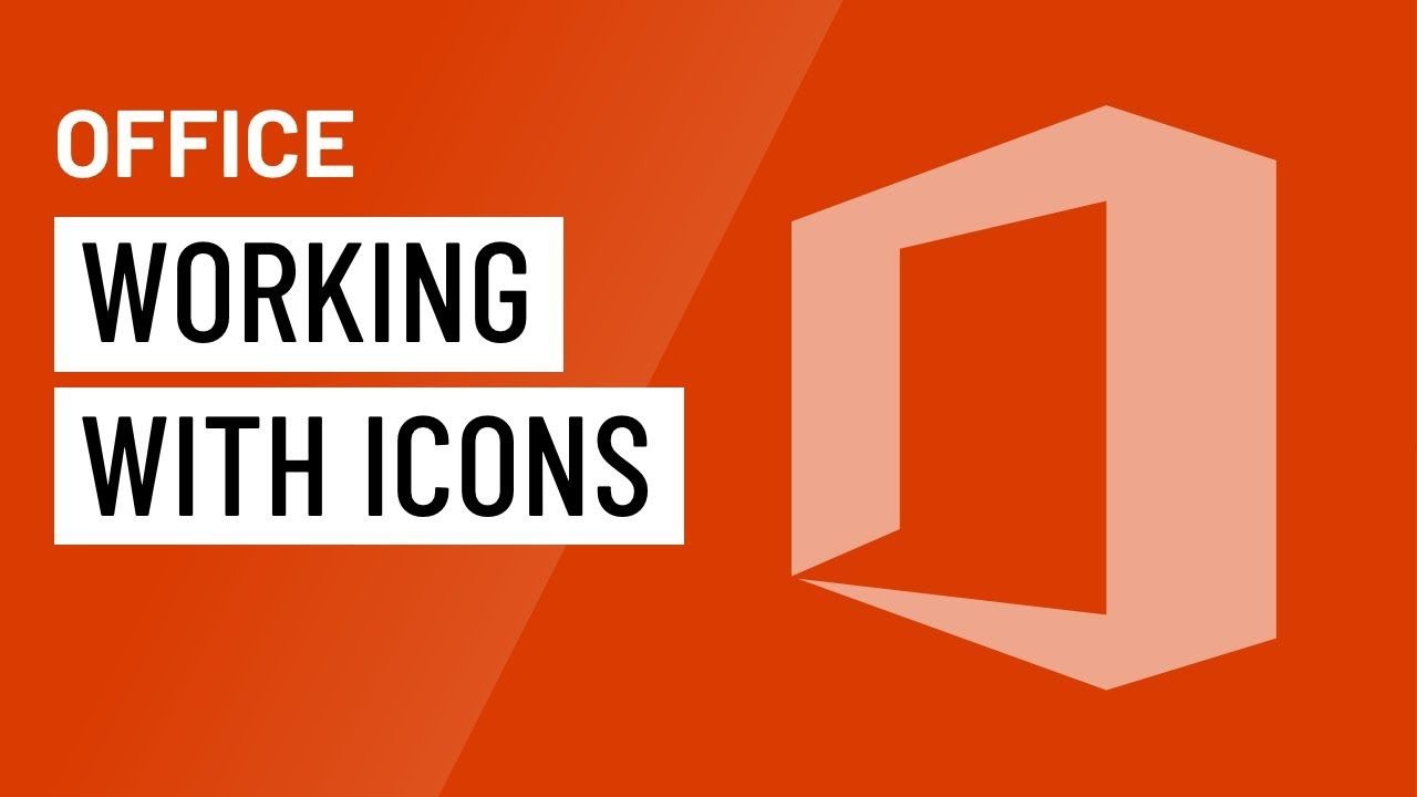 Office: Working with Icons