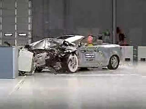 crash test of 2007 2011 volkswagen eos convertible. Black Bedroom Furniture Sets. Home Design Ideas