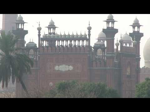 Azzan Badshahi Mosque بادشاھی مسجد From Shahi Fort Mar 5 2011 Lahore Pakistan