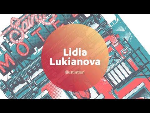 Live Illustration with Lidia Lukianova - 1 of 3