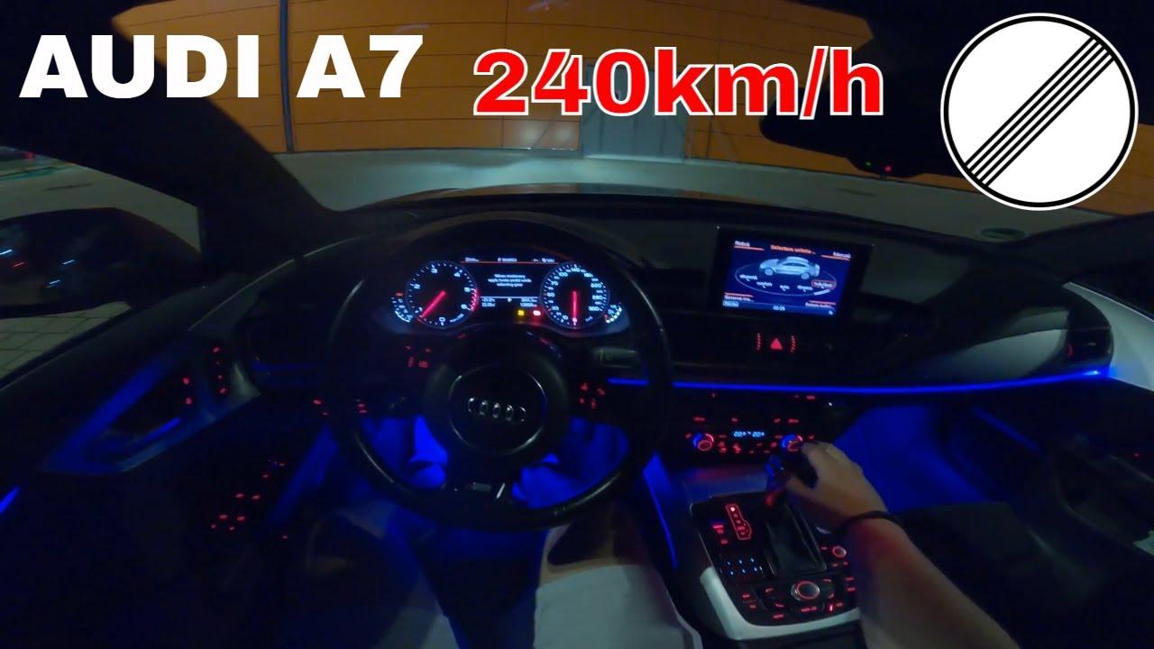 AUDI A7 2014 Sportback NIGHT DRIVE POV  AMBIENT Lighting