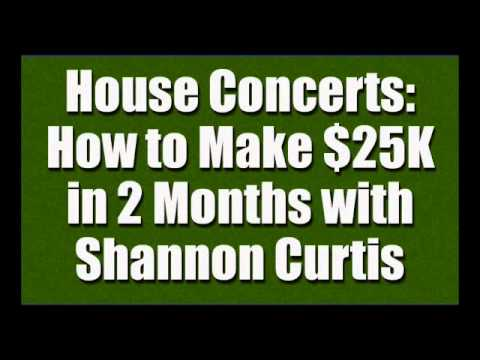 How to Make Money with House Concerts - Profitable Music Career, Part 2