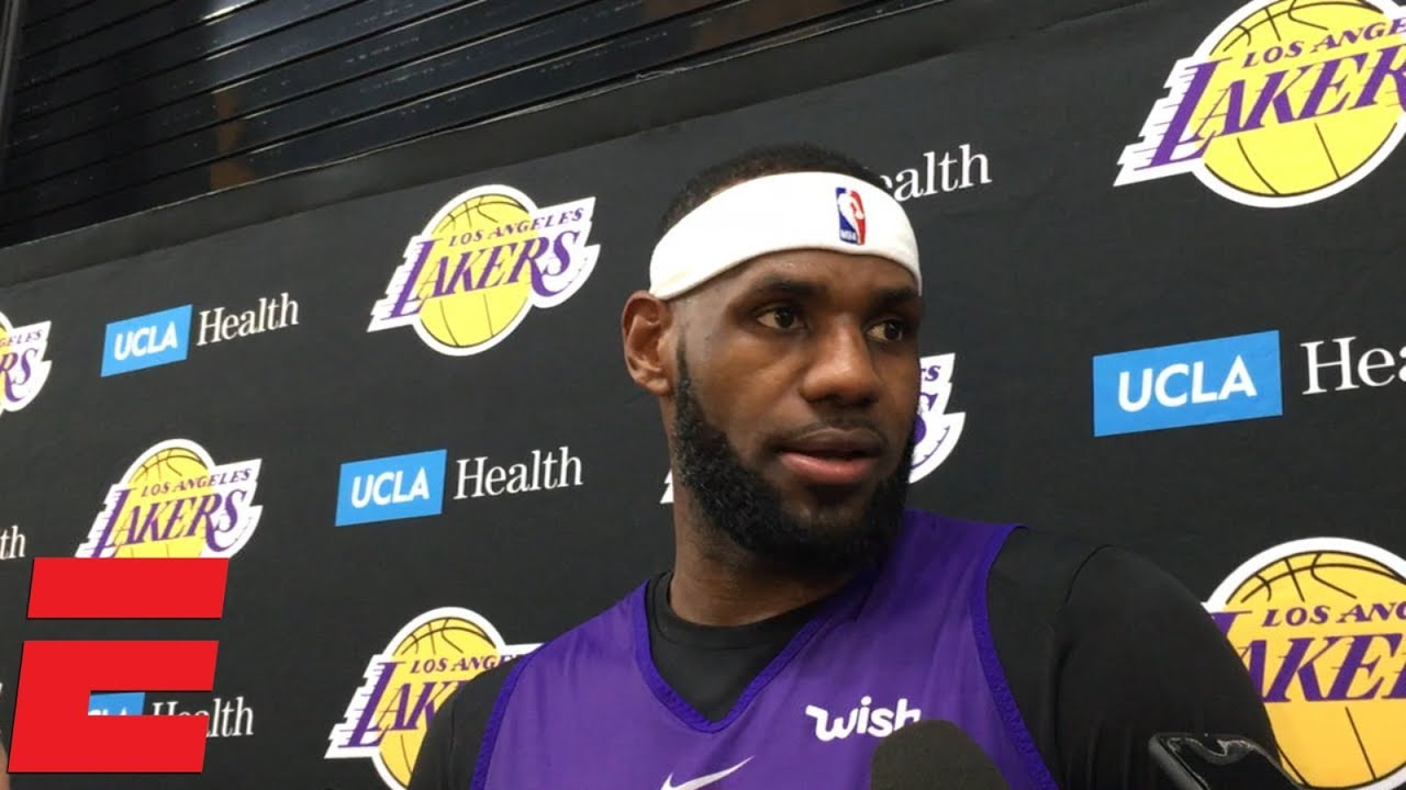9c9bfcf2f LeBron James on Lakers vs. Raptors tape   We threw that in the trash ...