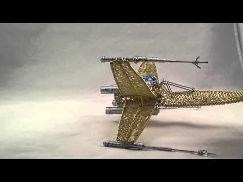 X wing fighter wire sculpture handmade