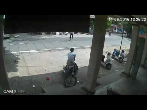 WATCH: Bike stolen from police station's parking