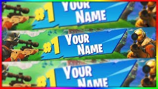 [FREE] BANNER TEMPLATE FORTNITE (VICTORY ROYALE) !!!