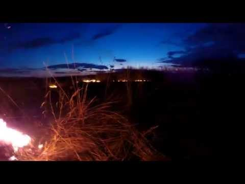 GoPro Prairie Burn - Big blue stem - ran out of diesel and daylight