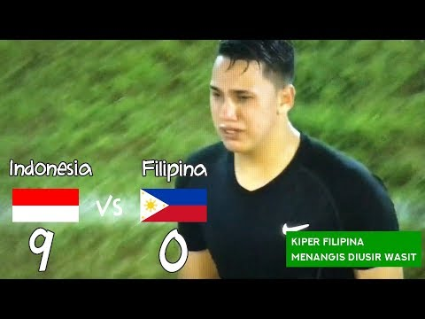KIPER MENANGIS! Indonesia vs Filipina 9-0 AFF U18 - Highlights & Goals - 7 Sept 2017