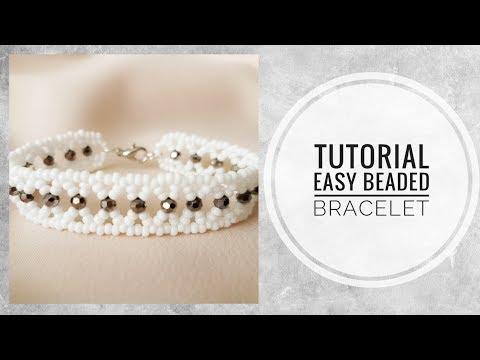 #МК - Легкий браслет из бисера и бусин | Easy beaded bracelet