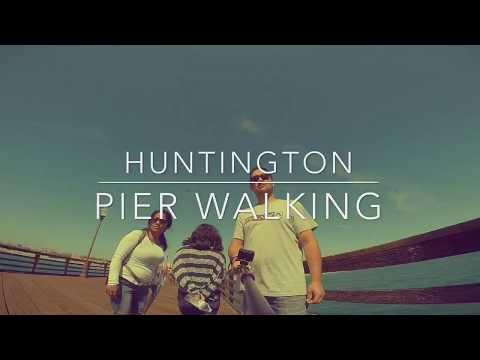 Huntington Beach pier walking