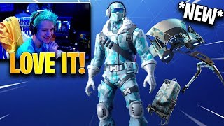 Ninja Reacts to *NEW* Frostbite Deep Freeze Bundle! | Fortnite Highlights & Funny Moments