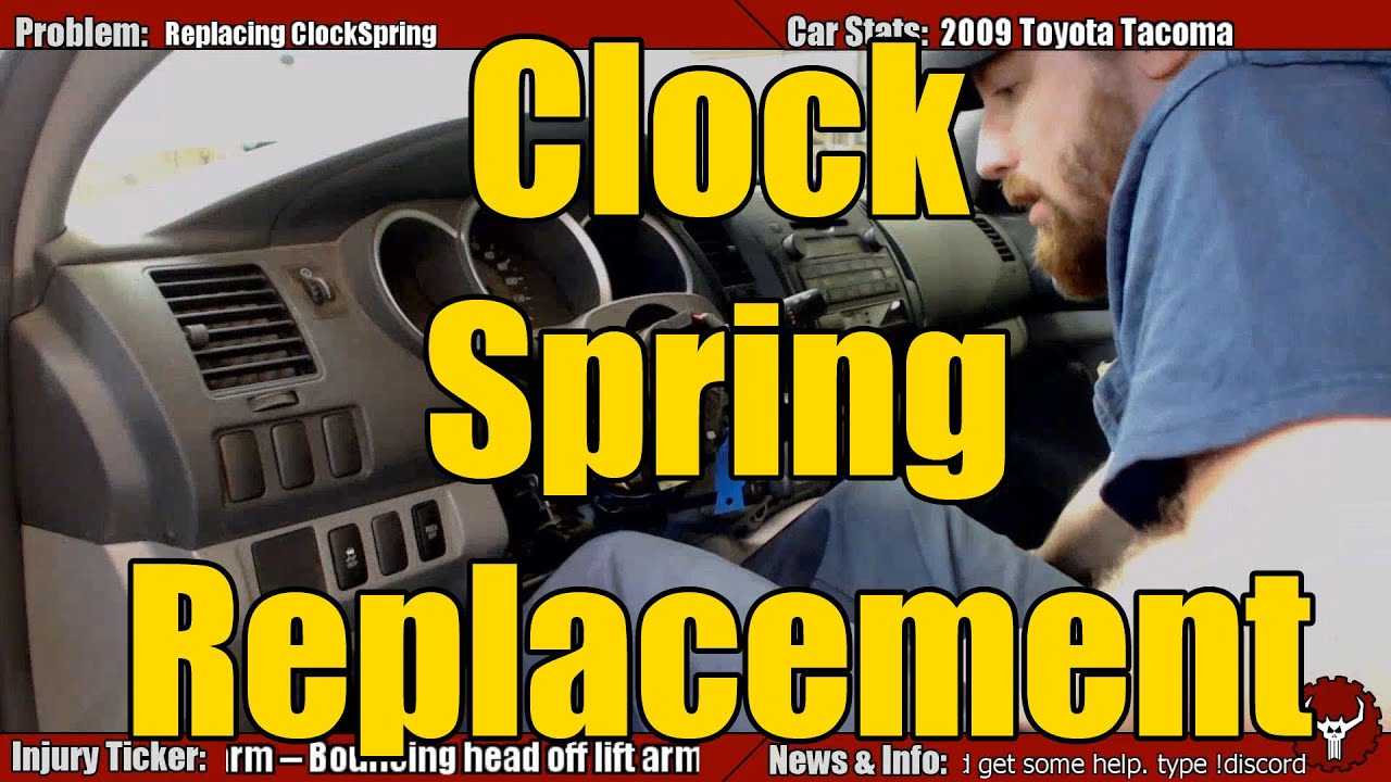 Toyota Clock Spring Replacement - YouTube