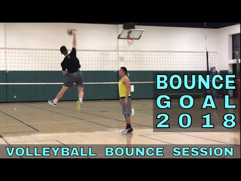 BOUNCE A VOLLEYBALL - My New Year Goal for 2018 (Volleyball