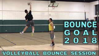 BOUNCE A VOLLEYBALL - My New Year Goal for 2018 (Volleyball spike)
