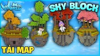 Mini World SkyBlock*THỬ THÁCH XÂY MAP ĐẢO SINH TỒN TRÊN TRỜI TĂNG FAN*GUMBALL MINI WORLD