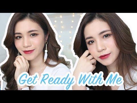 [中字]Get Ready With Me  暗紅色唇妝+髮型分享  I think i love you eyeshadow palette   Chinchinc