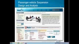Passenger-vehicle Suspension Design and Analysis in Maple