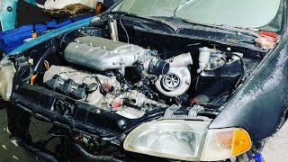 J32a2 Turbo Install 93 Civic   PT 1