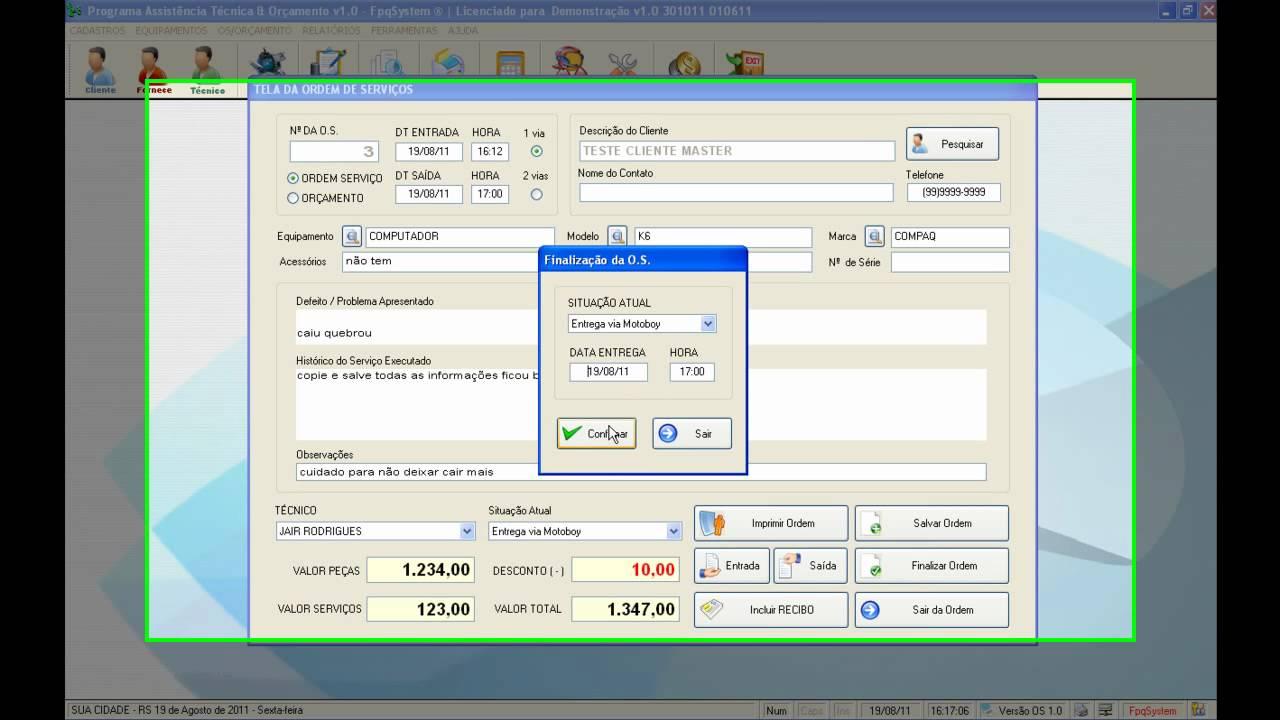 Apresenta o do programa os assist ncia t cnica v1 0 for Programa para disenar oficinas