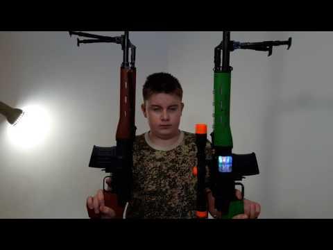 Сравнение стрельбы 2-х снайперских винтовок игрушек