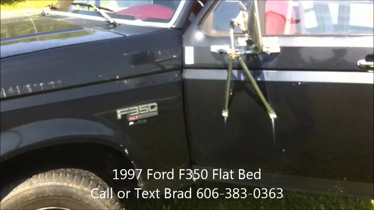 Alton Blakley Ford >> 1997 Ford F350 Flat Bed - YouTube