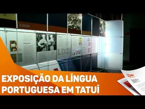 Exposição da língua portuguesa em Tatuí - TV SOROCABA/SBT