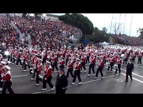 University of Wisconsin (UW) Badger Marching Band -  2013 Pasadena Rose Parade