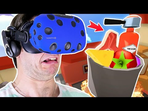SILLY GOURMET CHEF MAKES FIRE EXTINGUISHER & PLASTIC SOUP!! || Job Simulator VR Gameplay Part 2