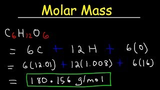 How To Calculate The Molar Mass of a Compound - Quick & Easy!