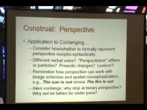 1st Language Creation Conference - 4 - John Quijada - Cognitive linguistics