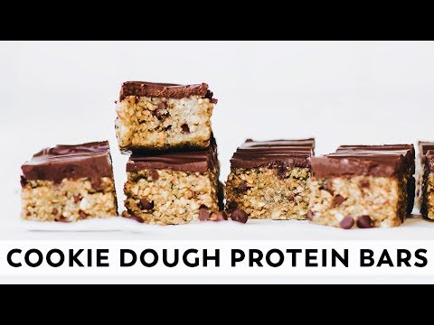 Cookie Dough Protein Bars (without Protein Powder!) // Vegan, Gluten-free, Paleo