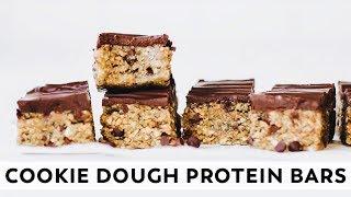 Cookie Dough Protein Bars (without protein powder!) // vegan, gluten-free, paleo