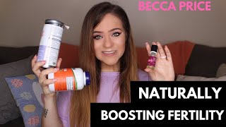 Supplements to Naturally Boost Fertility! | Conceiving with PCOS | Becca Price