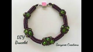 Herringbone Filled Netted Bracelet