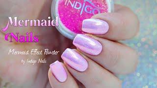 MERMAID NAILS | Indigo Nails Mermaid Effect Powder (Pastel Pink)