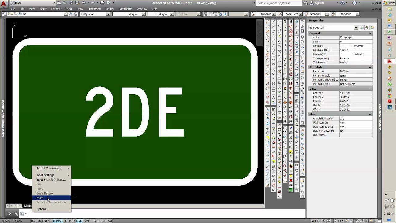 Low Cost MUTCD Sign Software for AutoCAD